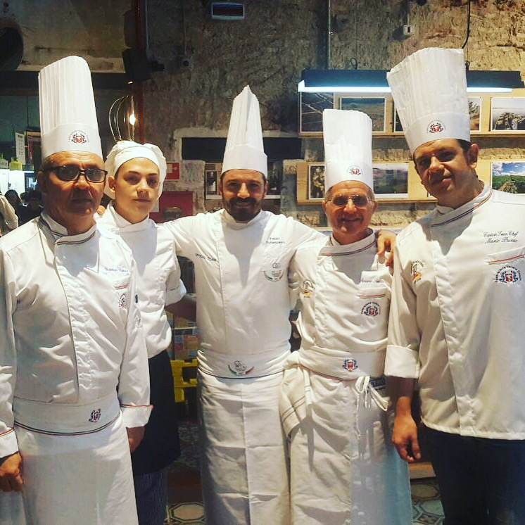 Con l'amico Fabio Potenzano ed i vini Tasca D'Almerita