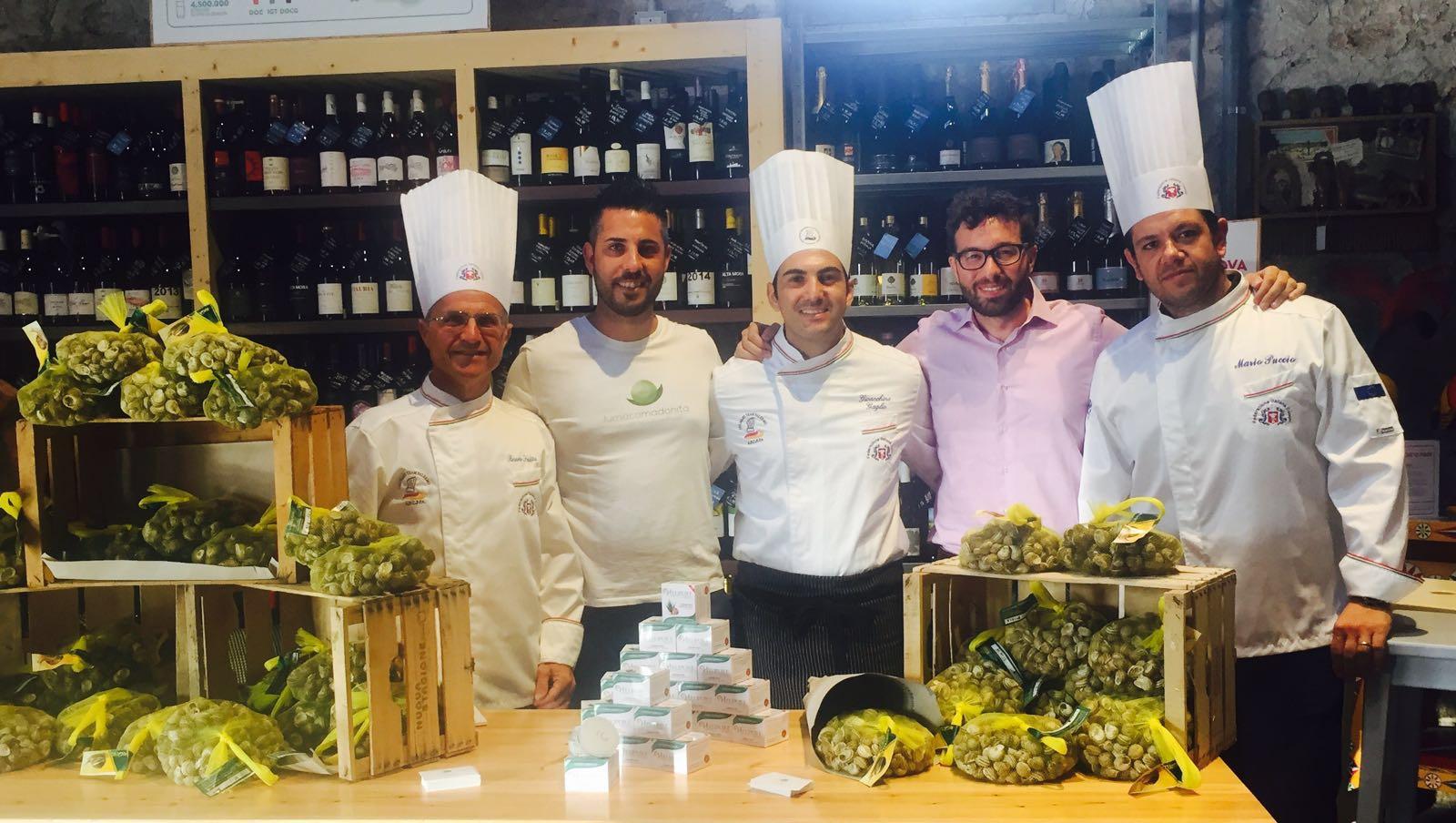 Il 13 luglio alle 18.30 presso il Mercato San Lorenzo di Palermo, con uno show cooking interamente dedicato alle lumache